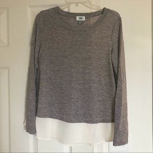 Old Navy lightweight sweater with sheer detail